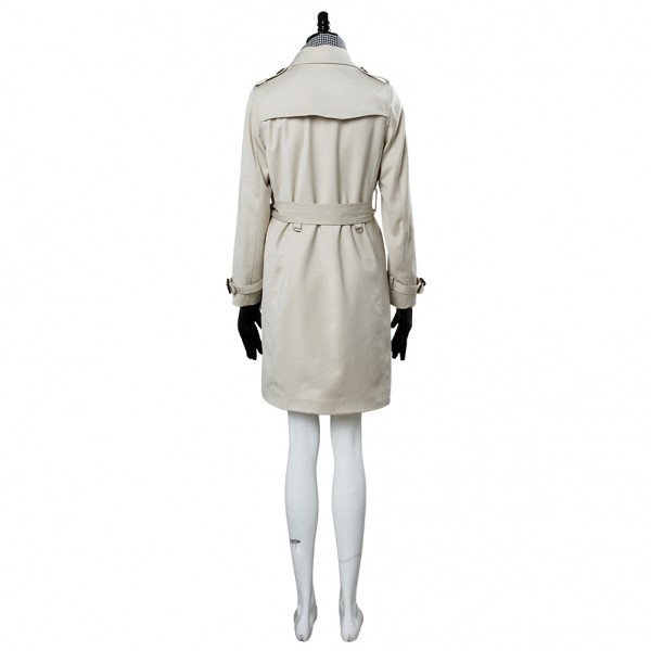 Resident Evil 2 Remake RE Ada Wong//Wang Trenchcoat+Red Dress Cosplay Costume*H