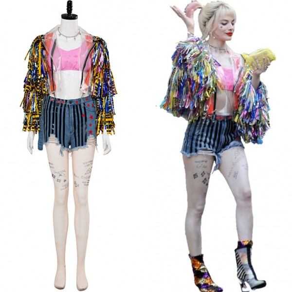 Harley Quinn Birds Of Prey And The Fantabulous Emancipation Of One Harley Quinn Cheerleader Outfit Cosplay Costume Skycostume