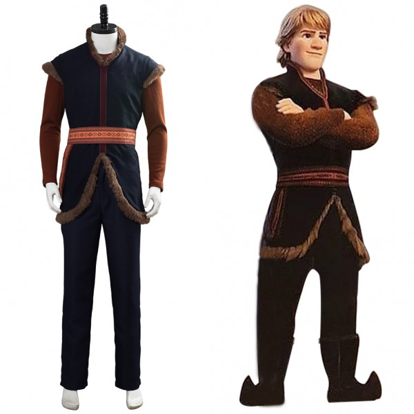 Kristoff Frozen 2 Adventure Costume Dress Cosplay Costume