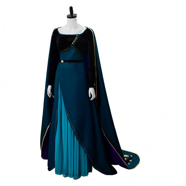 Anna Olaf's Frozen 2 Adventure Queen Dress Cosplay Costume