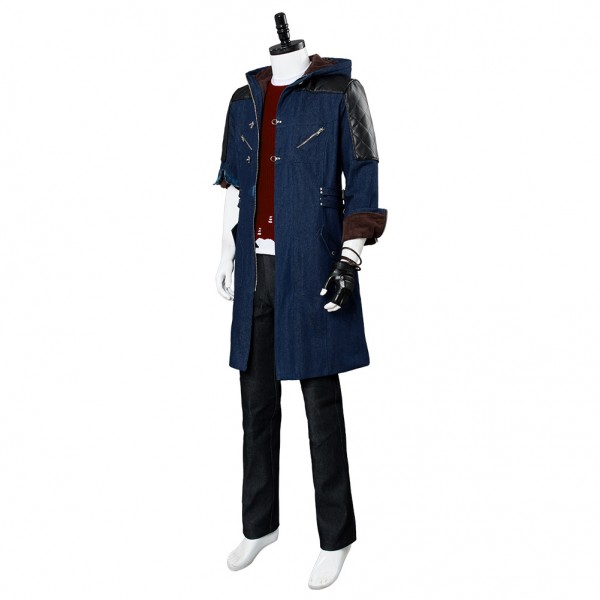 Devil May Cry V DMC5 Nero Cosplay Costume Outfit Jacket Shirt Boots Full Set