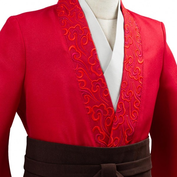 Movie Mulan 2020 Princess Hua Mulan Red Fancy Dress Chinese Han Fu Kids Children Halloween Carnival Outfit Cosplay Costume Skycostume