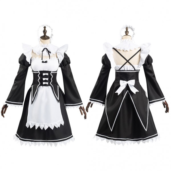 Frederica Baumann Re Life In A Different World From Zero Women Dress Outfit Halloween Carnival Suit Cosplay Costume