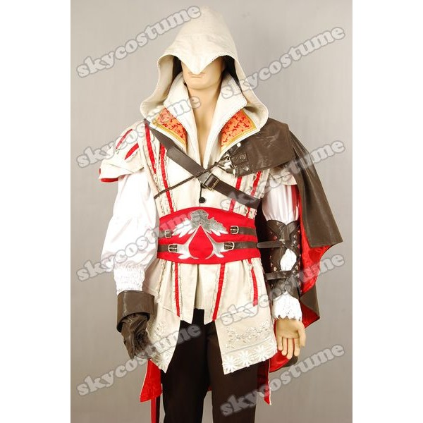 Assassin S Creed 2 Ii Ezio Outfit Cosplay Costume Custom Made