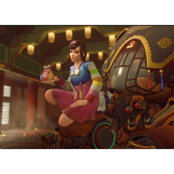 Hana Song Overwatch D Va Dva New Year Skin Uniform Cosplay